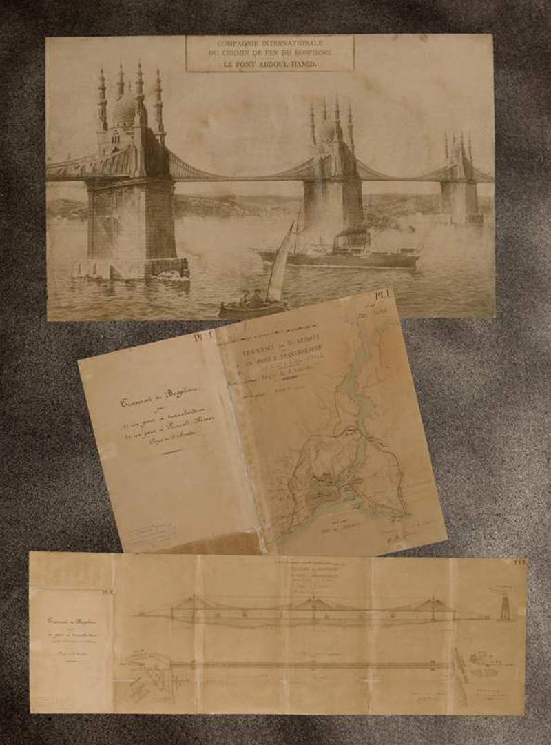 Az első Boszporusz-híd terv. Forrás: Evren ve İnsan